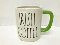 New Rae Dunn St. Patrick's Day Mug IRISH COFFEE Green Handle LL Magenta