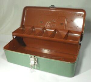 vintage SCHULZE COMBI BOX Blech Werkzeugkasten Schraubenkiste Metall DBGM Kult