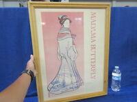 Vintage 1984 Madama Butterfly Framed Opera Art Poster