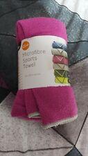 Pink Microfibre Sports Towel Bn