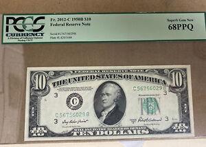 $10 1950B Federal Reserve Note Philadelphia PCGS Superb Gem New 68 PPQ