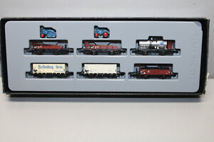 Märklin 82338 Mini Club Freight Car Set with Load Tractors DB Z Gauge Boxed