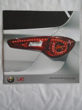 Alfa Romeo price list brochure Oct 2010