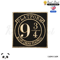 Harry Potter Platform 9 3/4 Embroidered Iron On Sew On PatchBadge For Clothes