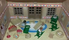 Sylvanian families vintage nursery with furniture babies accessories