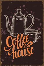 Metal Tin Sign coffee  house  Pub Home Vintage Retro Poster Cafe ART