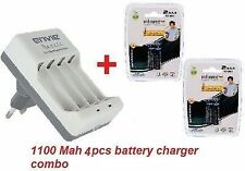 ENVIE 1100MAH AAA 4NOS INFINITE RECHARGEABLE CAMERA BATTERY + Beetle Charger
