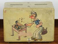 RADIO GALENA. BOIS POLYCHROMÉ BOX. POPEYE LE MARIN. CIRCA 1940.