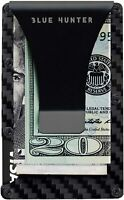 Minimalist Wallet for Men Carbon Fiber Card Holder Money Clip RFID Blocking Slim
