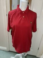 Men's Red Lyle And Scott Vintage Polo Shirt Size Large