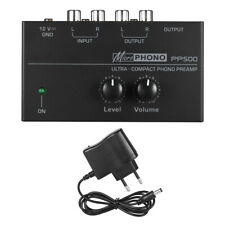 Pro NEW Ultra-Compact Phono Preamp + Level & Volume Controls RCA Input & Output
