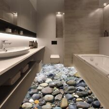 PVC Seashore Removable Wall Sticker 3D Floor Sticker Decor Bedroom Decoration
