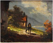 Heinrich Berger,  geb.1898 München - Jäger mit Hund im Gebirge