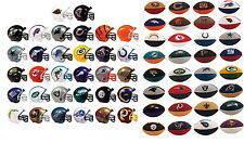 MINI NFL FOOTBALL HELMETS AND ERASERS LOT 32 OFFICIAL LICENSED TEAMS HOT!!
