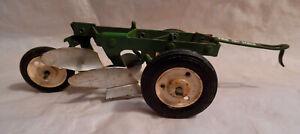 Vintage Carter Tru-Scale Tin 2-bottom Plow Toy 1/16th - ORIGINAL