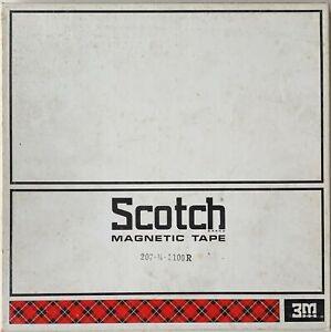 "Scotch 207 Mastering Recording Tape, LP, 10"" Plastic Reel, 3600 ft (1100m), Refu"