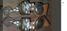 Large Silver Mounted Hall Spurs.