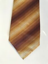 mens paul smith traditional pattern multi stripe Yellow Bown coloured silk tie