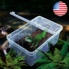 Plastic Box Insect Reptile Lizards Spider Snakes Transport Breeding Live Feeding