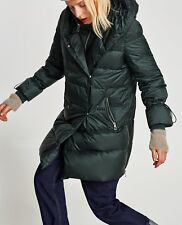 Zara plumón abrigo chaqueta Feather Down Long Padded coat Jacket búfer anorak L XL