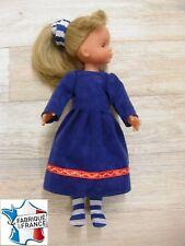 Ens. robe NEUVE pour Corolle Les Chéries 33 cms Ref.bleu rayé