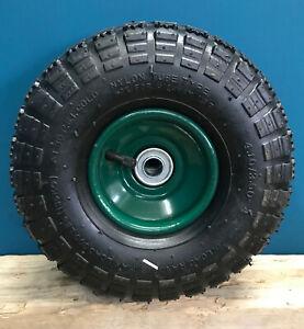 "Garden Trolley Wheel Replacement Spare Tyre Pneumatic Metal Rim (10""-26cm)"