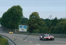 Lopez, Kobayashi Hand Signed Toyota 12x8 Photo 2018 Le Mans .