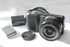 Sony NEX-3 digital camera w/ E 16-50mm PZ OSS lens & flash