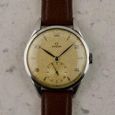 C.1946 Vintage Omega Jumbo Calatrava 38.5mm steel watch ref.2505 cal.30T2 w/ box