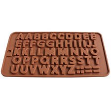 EP_ Letter Pattern Silicone Chocolate Cake Cookie Mold Ice Muffin Fondant DIY Mo