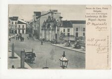 Arcos do Caes Ponta Delgada Lembranca de Sao Miguel Acores Vintage Postcard 195a
