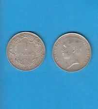 § Belgique Léopold II Silver Coin 1 Franc argent 1912 Légende Française