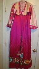 Real Kimono asian oriental dress Fuchsia pink ladies small womens costume