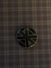 "CRASS LOGO 1"" pin button ANARCHIST CRUST PUNK - Buy 2 Get 1 Free"