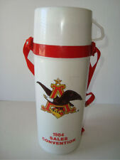 Rare VTG Anheuser Bush Logo1984 Sales Convention Plastic Thermos Bottle w/ Strap