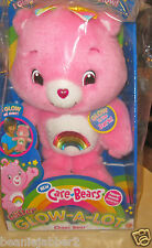CARE BEARS  GLITTER GLOW-A-LOT CHEER  Glow in the Dark Brand New, Never Opened!