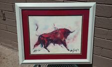 TED DEGRAZIA (1909-1982) SIGNED LIMITED EDITION LITHOGRAPH ART PRINT RED BULL AZ