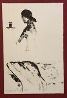 Stephan Stüttgen, Zwischen uns nichts, Lithographie, 1989, handsigniert