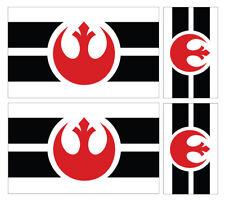4 X REBEL ALLIANCE FLAG VINYL CAR VAN IPAD LAPTOP STICKER