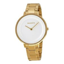Skagen SKW2330 Ditte White Textured Dial Gold Tone Bracelet Ladies Steel Watch