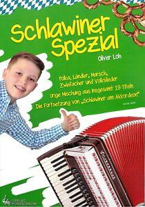 Akkordeon Noten : Schlawiner Spezial - Polka, Ländler etc. - leichte Mittelstufe