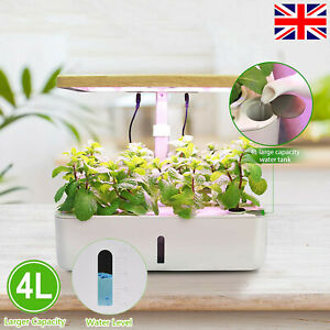 UK Hydroponic Growing System with Led Grow Light Indoor Herb Garden Kit 12 Pods