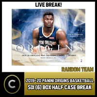 2019-20 PANINI ORIGINS BASKETBALL 6 BOX (HALF CASE) BREAK #B274 - RANDOM TEAMS