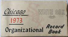 Rare 1973 Chicago White Sox Organizational Record Book Dick Allen Gossage Melton