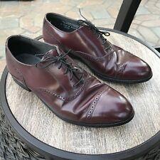 Vintage, Hanover MasterFlex, Burgandy, Leather, Oxfords (Sz 9)