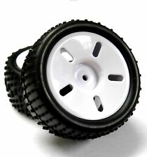 83705 1/16 Scale Plastic Off Road Wheel and Tyre Complete x 2 White 1/16 HSP