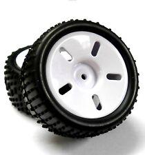83705 1/16 Escala Plástico Off-Road rueda y neumático Completo x 2 Blanco HSP