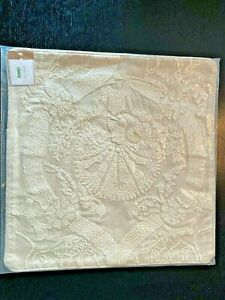 Pottery Barn Halima Embroidered Pillow Cover IVORY White 20 x 20 NEW
