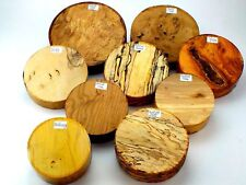 4 Premium Woodturning bowl blanks. Gift selection box. e.g. Yew, Walnut, Spalted