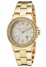 Michael Kors Glitz Gold Tone Stainless Steel Bracelet Watch 33 mm MK 5920